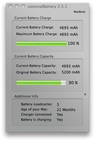 coconutBattery 2.5.1